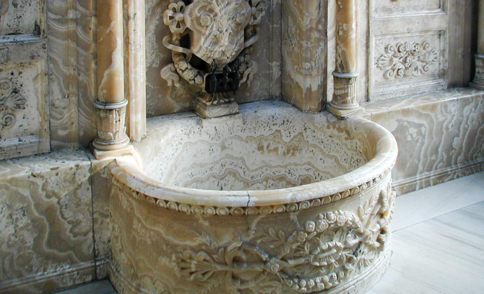 el baño del palacio de Dolmabahçe